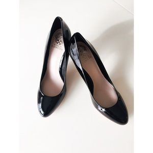 Vince Camuto Round Toe Patent Leather Heel